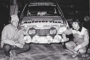 lars-erik torph Swedish Junior Rally team , Opel Ascona