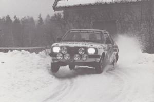lars-erik torph Swedish junior rally team , vit Opel Ascona